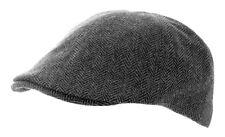 Heritage Traditions para hombres Moda Al Aire Libre Gris Herringbone Tweed Gorra Sombrero