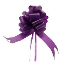 50mm Purple Pull Bows x 5 - Weddings, Christenings, Party, Gifts, Events