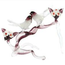GlassOfVenice Murano Glass Birds on a Cherry Branch - Amethyst