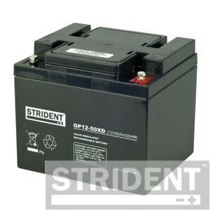 Pair Strident 50ah 12v Batteries, Suitable for Pride Colt Pursuit & Rascal Vecta