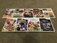 Nintendo Wii 9 Game Lot - Sonic Unleashed, Mario Sonic, Star Wars + More All CIB