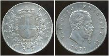 ITALIE 5 lire 1874  ARGENT  SILVER  ( SUP )