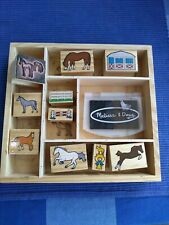 Melissa and Doug Wooden Horse Stamp Collection