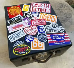 Vintage Inspired DETROIT Stickers (lot of 20+)