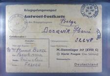 Camp Stalag 317 Markt-Pongau 1944 POW Prisoner France Kriegsgefangenenpost K1a