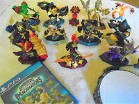 Skylanders Imaginators lot of 11 figures, 1 crystal,1 ps4 game & portal.