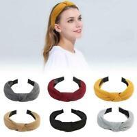 Women Cute Headband Hair Band Top Knot Fashion Plain Hairband Twist M9F3