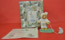 1999 Cherished Teddies Trudy Easter Bunny Pulling Toy Exclusive Figurine 726737