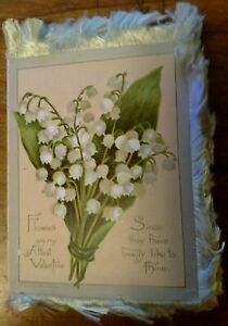 1884 Unused Victorian  Valentine Greeting Card  L. & Prang Co. Boston *Rare*