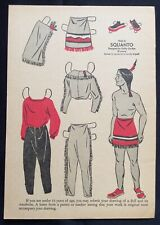1956, SQUANTO Mag. Paper Dolls, Wee Wisdom Mag.,Dorothy Wagstaff Artist