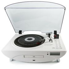 GPO Jive 3 Speed Record Player with CD and MP3 - White