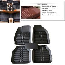 5Pcs Black Leather Universal Car Floor Mat Waterproof Dustproof Carpet Floor Mat
