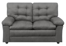 Mainstays Buchannan Love 2 Seat Sofa Grey Microfiber Fabric Couch Loveseat Gray