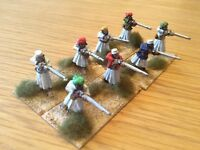 28mm Foundry Darkest Africa Arab Musketeers ( Prof  painted)