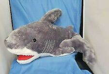"Fiesta 29.5"" Large Gray White Shark Plush - Looks Real"