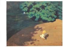 Postcard art painting vallotton felix le ballon huile sur carton
