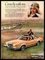 1979 FORD THUNDERBIRD Classic Car Photo AD Female Pilot and Biplane