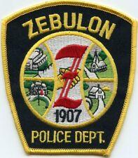 ZEBULON NORTH CAROLINA NC POLICE PATCH