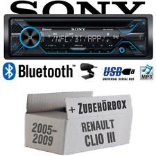 Sony Autoradio für Renault Clio 3 Bluetooth CD MP3 USB KFZ PKW Radio Einbauset