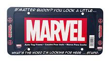 Marvel's Buddy Deadpool Auto Plastic License Plate Frame Universal Fit 1 PC