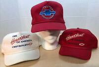 Chevrolet Heartbeat of America Cap Hats Trucker Snapback Red White Lot of 3