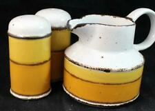 Midwinter SUN Salt & Pepper Set + Creamer Stonehenge Line GREAT CONDITION