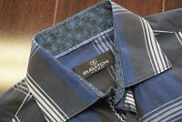 36195 Mens Bugatchi Uomo Plaid Long Sleeve Button Up Dress Shirt Size Medium
