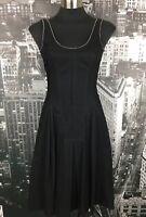 Gorgeous Cue Black Dress, Size 6, Cotton, Fit & Flare, Work Wear