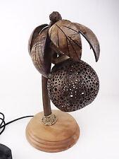 Palme mit einer Kokosnuss Coconut Tisch Lampe Holz Raum Dekoration Geschenk