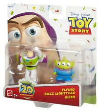 TOY STORY 20th ANNIVERSARY FLYING BUZZ LIGHTYEAR & ALIEN FIGURE *NEW*