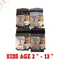 12 Pack Boys Kids Cotton Jersey Check Stripe Boxer Shorts Junior Pants Age 2 -13