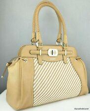 FREE Ship USA Handbag GUESS Mauritus Ladies Camel Multi Authentic Chic