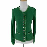 Sundance Extra Fine Merino Wool Cardigan Sweater Women's Size S Round Buttons