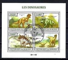 Animaux Préhistoriques Burundi (38) série complète 4 timbres oblitérés