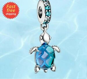 Authentic Pandora Murano Glass Sea Turtle Sterling Silver 925 Charm 798939C01