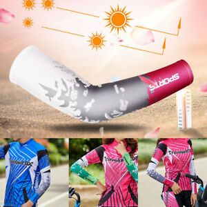 Cooling Sport Arm Sleeves Cover Stretch Basketball Cycling UV Sun Protection