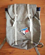 More details for toronto blue jays mlb baseball stadium backpack bag drawstring buckle grey nwot