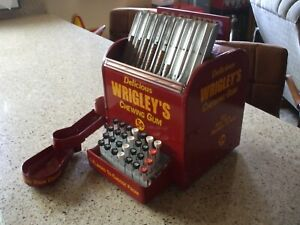 40's - 50's Wrigley's Chewing gum theme Changer - vending machine cash register