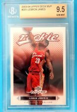 Lebron James RC 2003-2004 Upper Deck MVP Rookie Card#201 BGS 9.5 GEM MINT! Cavs2