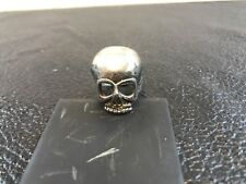 Skull Bone Biker Ring Signed G&S 1987