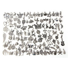 Wholesale 100pcs Bulk Lots Tibetan Silver Mix Charm Pendants Jewelry DIY SN