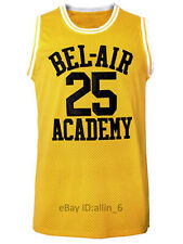 Carlton Banks #25 Fresh Prince of Bel Air Academy Men's Basketball Jersey Yellow