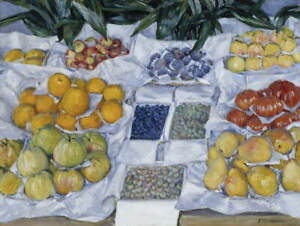 Gustave Caillebotte Fruit Displayed On A Stand Giclee Paper Print Poster