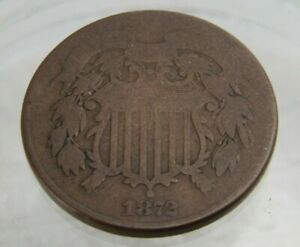 1872 U.S. 2 Cent Piece Circulated