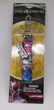 Mighty Morphin Power Rangers Movie 2017 Lanyard ID Badge Holder Removeable Charm