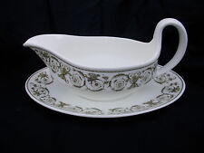 Wedgwood PERUGIA. Sauceboat and Stand