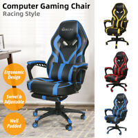Gaming Chair Ergonomic Racing Recliner Computer Office Chair Swivel Footrest US
