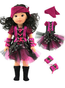 """Pirate Costume Halloween For 14.5"""" WELLIE WISHERS Doll Clothes"""