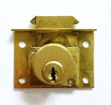 "CCL 0168 7/8"" Desk Chest Lock Satin Brass NOS KA Bolt Cabinet Locksmith"