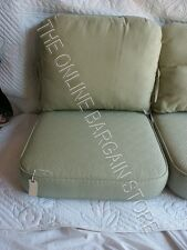 Frontgate Carlisle Outdoor CHAIR Cushions SUNBRELLA 2PC Ming Green Tea 24x26 NEW